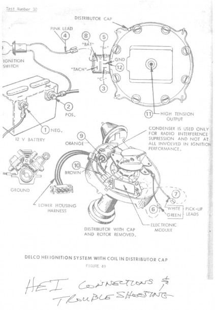 Ignition Coil Wiring Diagram Chevy : 1969 Gm Coil Wiring