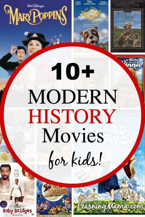 Modern History Movies for Kids! Experience Modern History with your kids with these clean, age appropriate family movies Modern World History, World History Lessons, History Of India, History For Kids, History Projects, Family History, Ancient History, Kid Movies, Family Movies