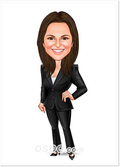 Business Career Woman Caricature Caricature Girl Cartoon Business Cartoons