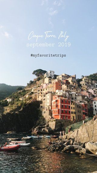 Stunning photography of Cinque Terre, Italy, in fall