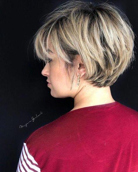 Chic Short Haircuts: Popular Short Hairstyles for 2019 58 Short Bobs Hair Cu. Chic Short Haircuts: Popular Short Hairstyles for 2019 58 Short Bobs Hair Cu. Chic Short Haircuts: Popular Short Hairstyles for 2019 58 Short Bobs Hair Cuts Hairstyles 2019 Popular Short Hairstyles, Short Hairstyles For Thick Hair, Short Layered Haircuts, Curly Hair Styles, Long Hair, Layered Bob Hairstyles, Thin Hair, Hair Short Bobs, Layered Short Hair