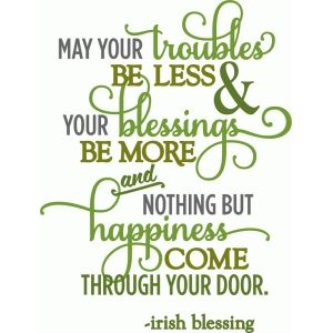 Silhouette Design Store - View Design #55496: troubles be less irish blessing - layered phrase