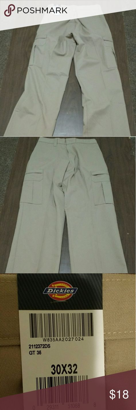 Dickies Mens Desert Sand Industrial Relaxed Fit Cargo Pants 2112372DS