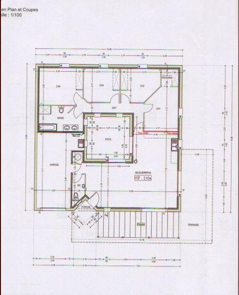 Plan maison rdc avec patio (43 messages) - ForumConstruire s