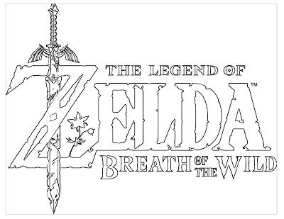 The Legend Of Zelda Breath Of The Wild Breath Of The Wild Legend Of Zelda Coloring Pages