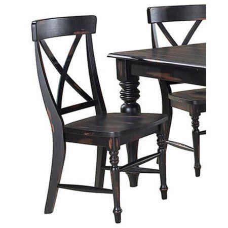 Stylish Ergonomic X Back Dining Chairs Set Of 2 Sturdy And Long