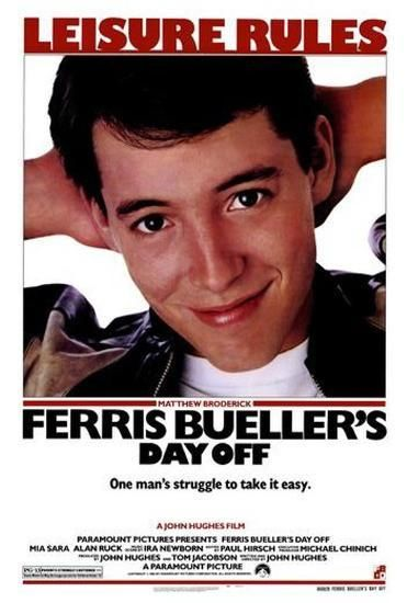 Ferris Bueller's Day Off Directed by John Hughes. With Matthew Broderick, Alan Ruck, Mia Sara, Jeffrey Jones. A high school wise guy is determined to have a day off from school, despite what the Principal thinks of that. Horror Movie Posters, Iconic Movie Posters, Movie Poster Art, Poster S, Iconic Movies, Classic Movies, Poster Wall, 80s Posters, Original Movie Posters