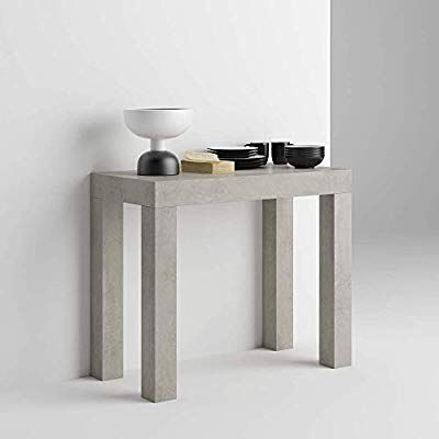 Mobilifiver Table Console Extensible First Ciment 90 X 45 X 75 Cm Melamine Aluminium Made In Italy Ama Table Console Extensible Console Extensible Console