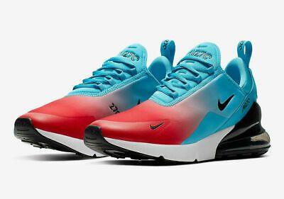 Nike Air Max 270 Firecracker Blue Fury White Cj0767 400 Running Shoes Men S Color Blue Fury Black White In Nike Air Max Pink Nike Shoes Black Nike Shoes