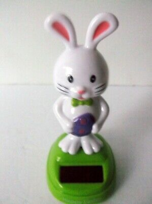 Solar Powered Dancing Bobble Head Bunny  /&  Holding Eggs