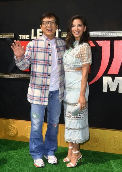 Martial arts action star Jackie Chan and actress Olivia Munn, who play the voices of Master Wu and Koko respectively, arrive for the premiere of 'The Lego Ninjago Movie' in Los Angeles.