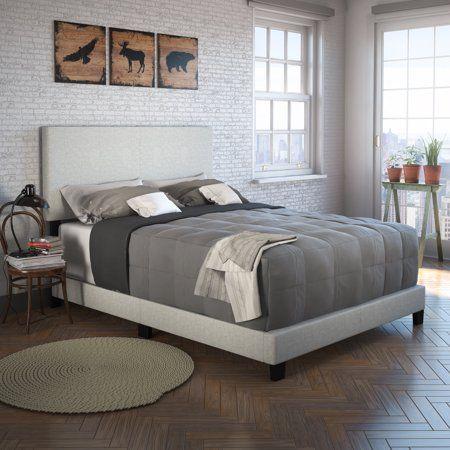 Premier Sutton Upholstered Linen Platform Bed Frame Multiple
