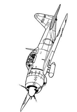 46 Coloring Pages Of Wwii Aircrafts With Images Wwii Aircraft