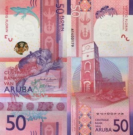 Aruba 50 Florin 2019 Billetes