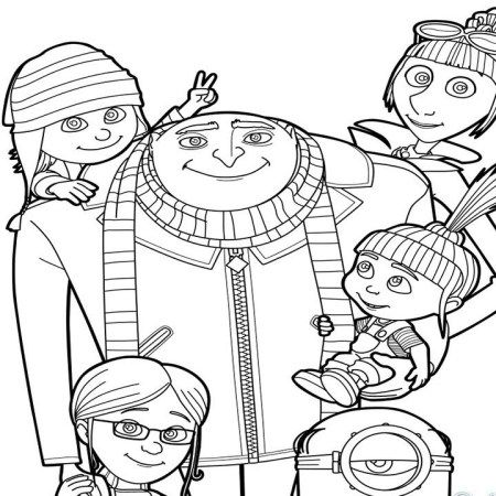 Creative Photo Of Despicable Me 3 Coloring Pages - Albanysinsanity.com  Family Coloring Pages, Minions Coloring Pages, Minion Coloring Pages