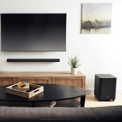 Jbl Bar 3 1 Channel 4k Ultra Hd Sound Bar With Wireless Subwoofer Black In 2020 Sound Bar Best Home Theater System Home Theater System