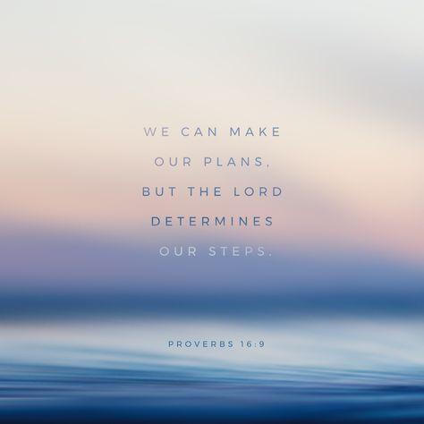 Proverbios 16 9 A Pessoa Faz Os Seus Planos Mas Quem Dirige A Sua