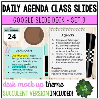 Daily Agenda Google Slides Set 3 By Sassy In Middle Teachers Pay Teachers Daily Agenda Distance Learning Teaching Math