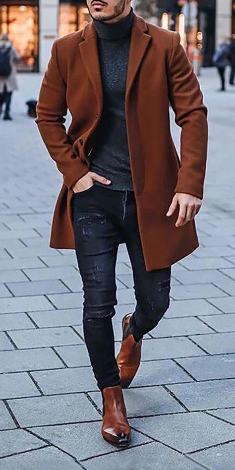 Trendy Street Coat Mens Clothes
