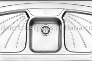 Double Drainer Kitchen Sink Double Drainer Kitchen Sink In 2020 Kitchen Sink Kitchen Sink Diy Modern Kitchen Sinks