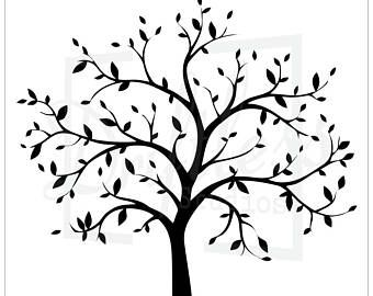 Beautiful Birches 5 Pc Kit Large Tree Stencils Baumdeko Baum