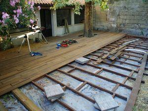terrasse bois amnagement patio pinterest terrasse bois terrasses et bois - Pose D Une Terrasse En Bois Sur Sol Meuble