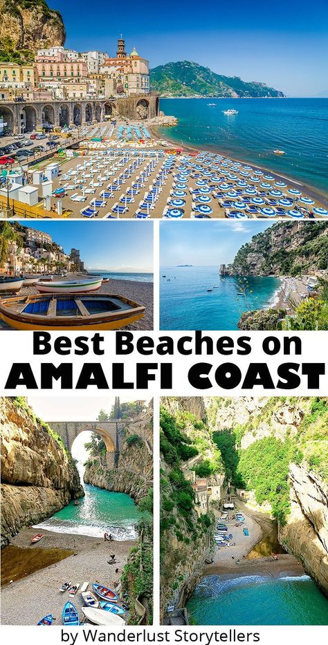7 Best beaches of Amalfi Coast, Italy uncovered! Step away from the crowds on yo… 7 Best beaches of Amalfi Coast, Italy uncovered! Step away from the crowds on your Amalfi Coast holiday and find these hidden, secluded gems. Amalfi Coast Beaches, Amalfi Coast Italy, Sorrento Italy, Positano Italy, Atrani Italy, Sorrento Beach, Best Beaches In Europe, Ravello Italy, Italy Vacation