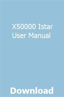 X50000 Istar User Manual Ford Focus Zetec Ford Focus New Ford