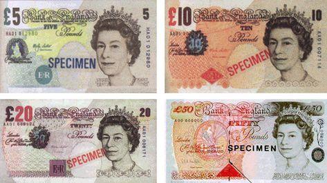 Billetes De Libras Esterlinas Monedas Libra Esterlina Libra
