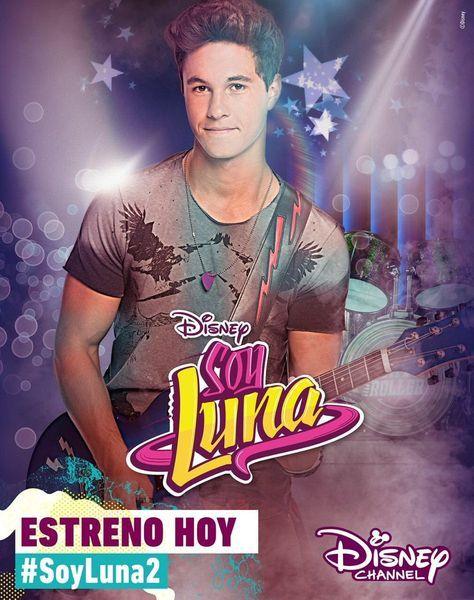 Soy Luna 2 Poster Oficial Do Simón Disney Channel Stars New Disney Channel Shows Disney Channel
