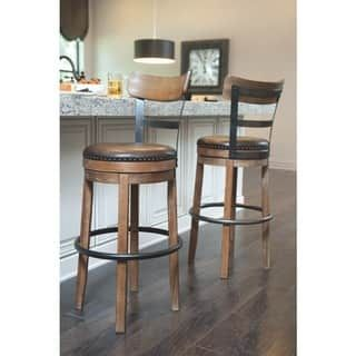 Carbon Loft Kettering Screw Metal And Wood Stool Bar Stools