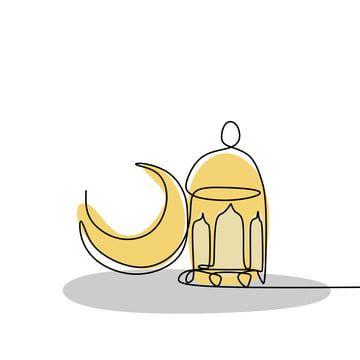 فانوس رمضان مستمرة خط الرسم تحية خط الرسم المثال التوضيحي Png والمتجهات للتحميل مجانا Line Drawing Ramadan Background Ramadan