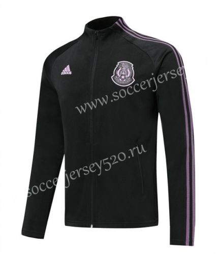 2020 2021 Mexico Balck Ribbon Thailand Soccer Jacket Lh Jackets Soccer Thailand