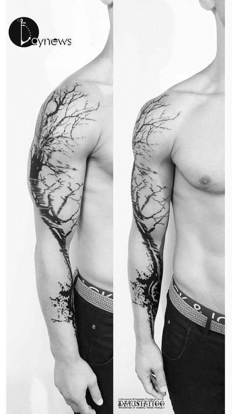 Tree Tattoo – I want a lot of hard defined lines and lots of varied shading - Tattoo Designs Men