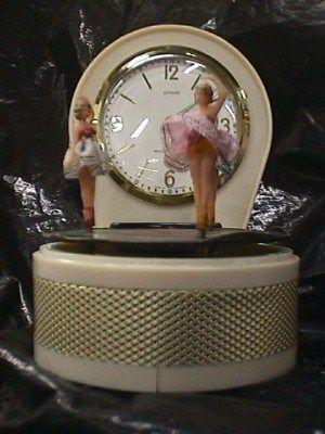 Beautiful Dancing Ballerina Clock Jack Berg S In 2020 Unique Alarm Clocks Vintage Clock Music Box Ballerina