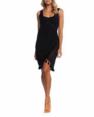 8f0f8a3230714 La Blanca Designer Crochet Coverup Wrap Dress with Tassels ...