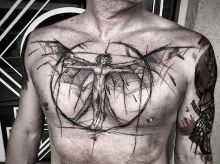 New Tattoo Designs For Guys Sketches Posts 59 Ideas Cool Chest Tattoos Chest Tattoo Men Tattoos For Guys