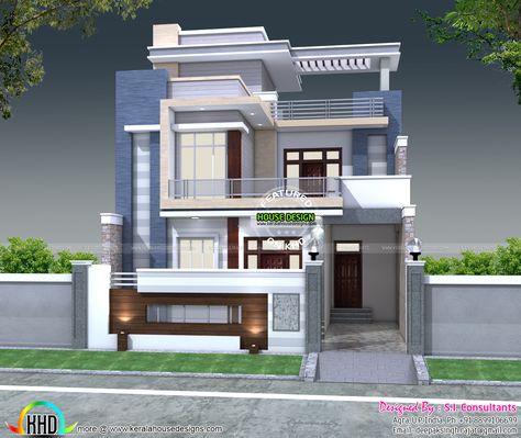 Modern Home North India Jpg 1466 1237 Kerala House Design Duplex House Design Small House Elevation Design