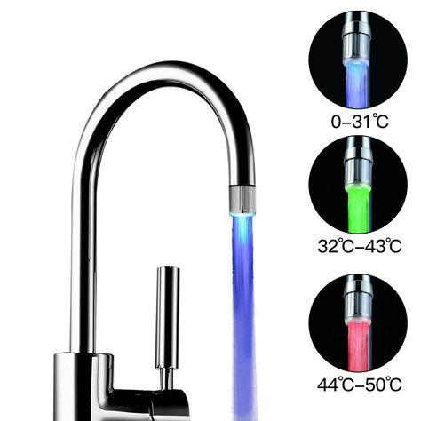 Led Faucet Light Tap Nozzle Rgb Color Blinking Temperature Faucet