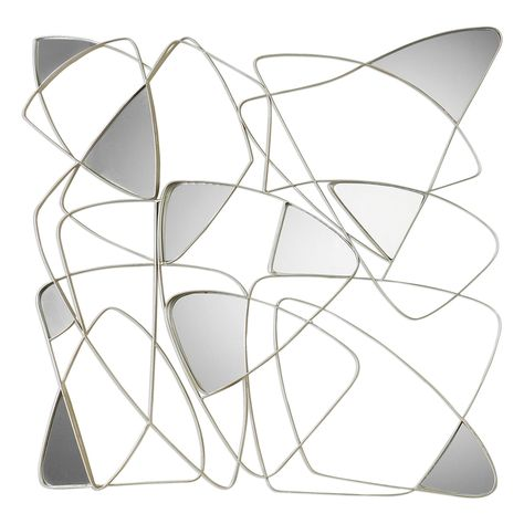 Uttermost Oswin Abstract Mirrored Wall, Uttermost Oswin Abstract Mirrored Wall Art