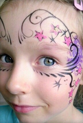 Space Themed Face Painting