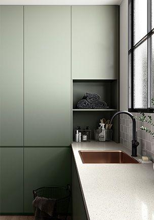 Laminex Green Slate Kitchen Design Contemporary Interior Trending Decor