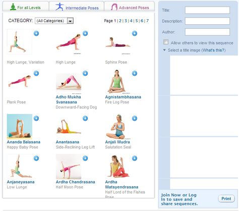 Create Your Own Personal Yoga Sequence Using Yoga Journal S Sequence Builder Http Www Yogajournal Com Poses Sequence Builder