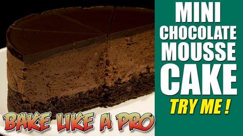 Mini Chocolate Mousse Cake Recipe