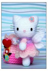 Patron Amigurumi Hello Kitty Angel - Saekita Ganchillo | 283x192