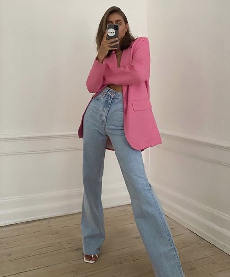 Mode Outfits, Trendy Outfits, Summer Outfits, Fashion Outfits, Womens Fashion, Fashion Trends, Look Rose, Mode Streetwear, Blazer Outfits