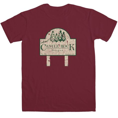 Inspired By Stand By Me T Shirt - Castle Rock - Maroon / 2XL