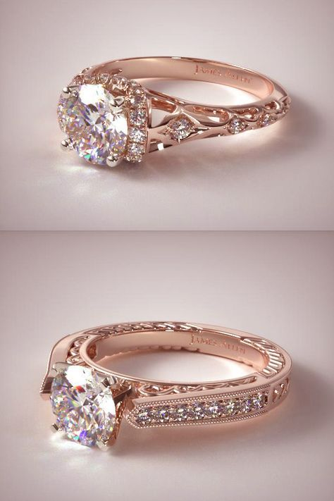Awesome Unique Rose Gold Wedding Anniversary Engagement R