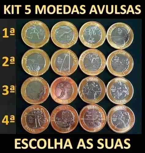 Conjunto Completo 16 Moedas Olimpiada Rio 2016 Todas Novas R