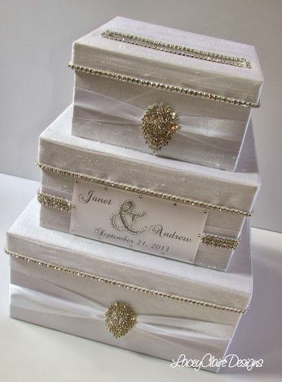 Wedding Card Box Bling Card Box Rhinestone By Laceyclairedesigns